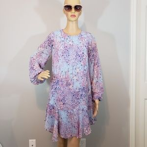 NWT BCBGMAXAZRIA Floral Long Sleeve Shift Dress
